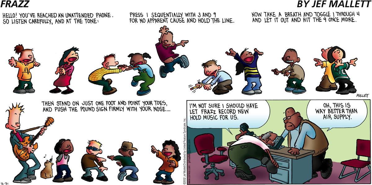 Frazz for Mar 31, 2002 Comic Strip