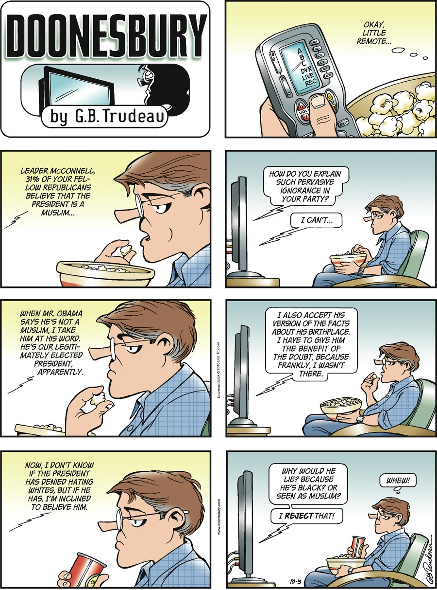 Doonesbury for Oct 3, 2010 Comic Strip