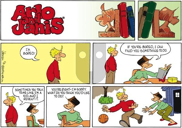 Arlo and Janis on Sunday November 9, 2003 Comic Strip