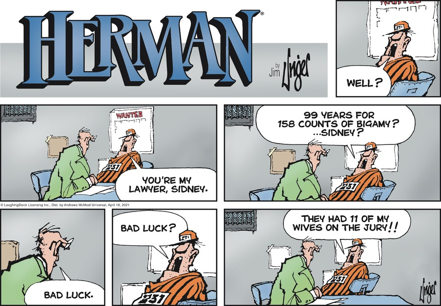 Herman Comic Strip for April 18, 2021