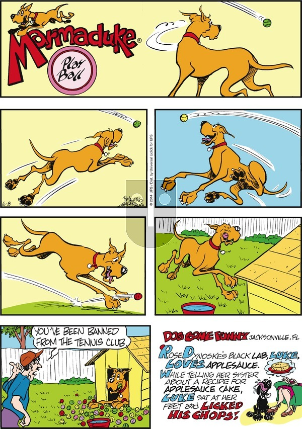 Marmaduke on Sunday June 8, 2014 Comic Strip