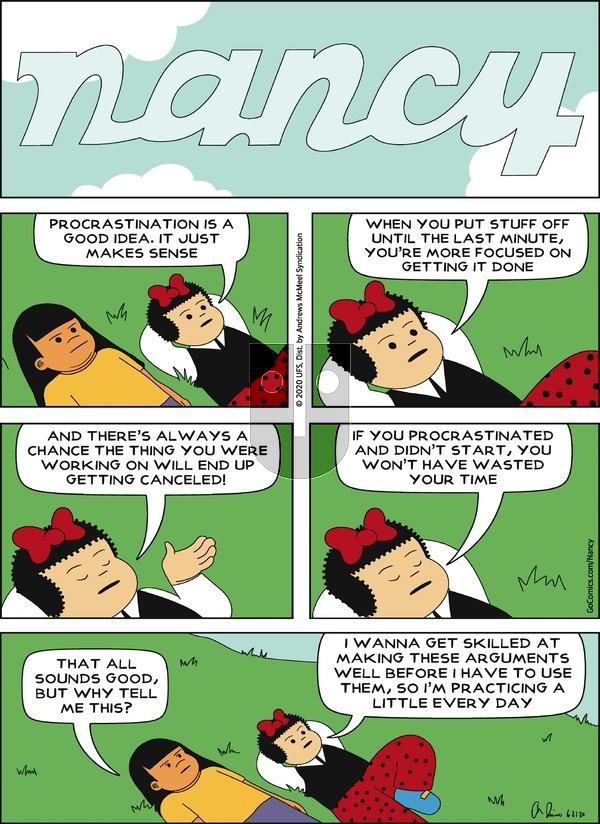 Nancy - Sunday June 21, 2020 Comic Strip