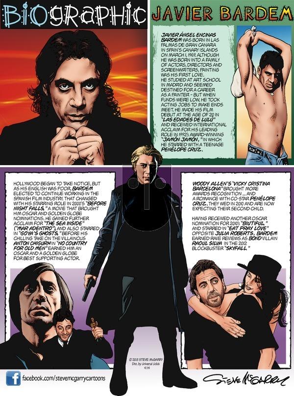Biographic on Sunday April 14, 2013 Comic Strip