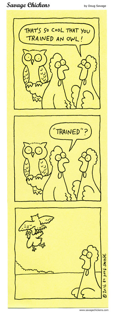Savage Chickens Comic Strip for June 01, 2020