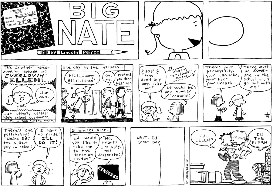 Big Nate: First Class Comic Strip for January 24, 2021