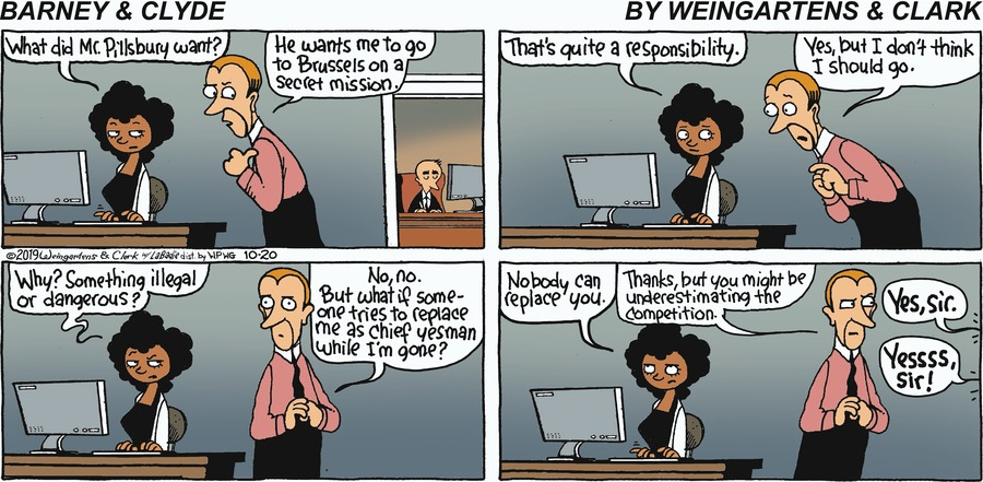 Barney & Clyde Comic Strip for October 20, 2019