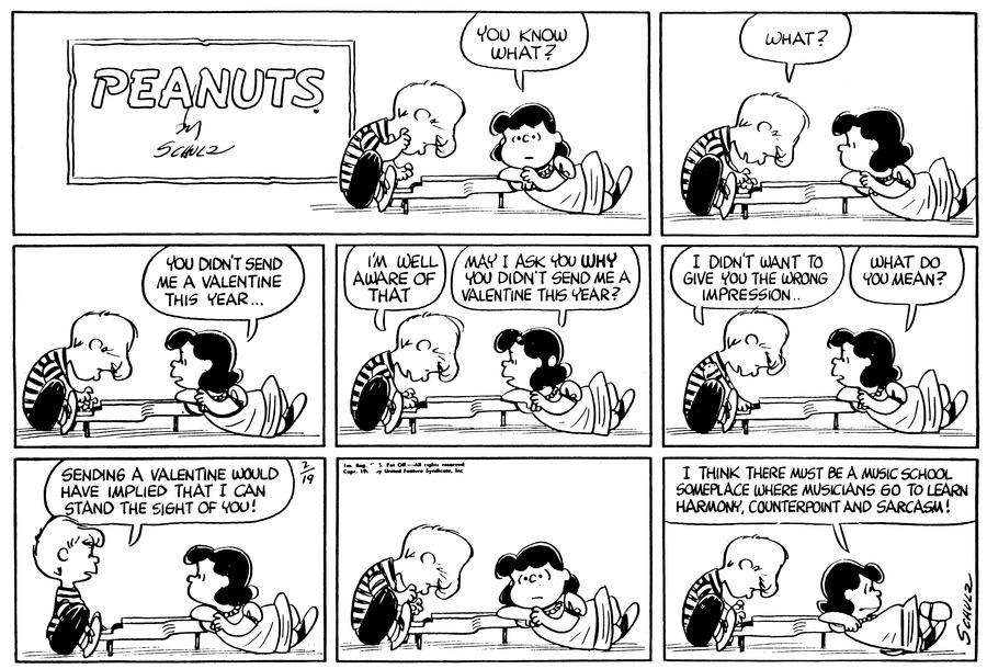 Peanuts Comic Strip for February 19, 1961