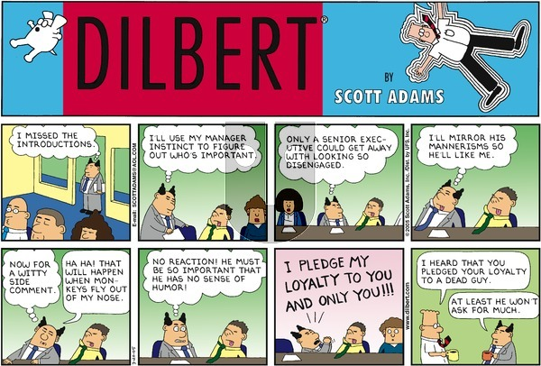 Dilbert on Sunday March 20, 2005 Comic Strip