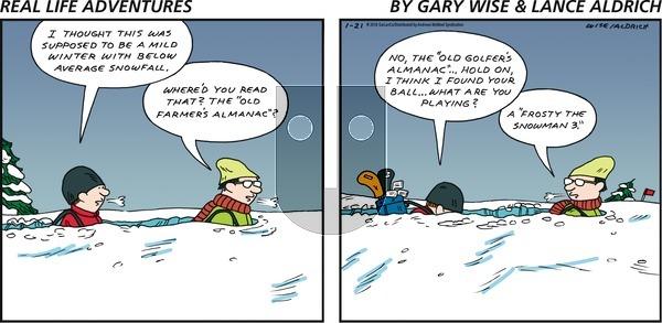 Real Life Adventures on Sunday January 21, 2018 Comic Strip