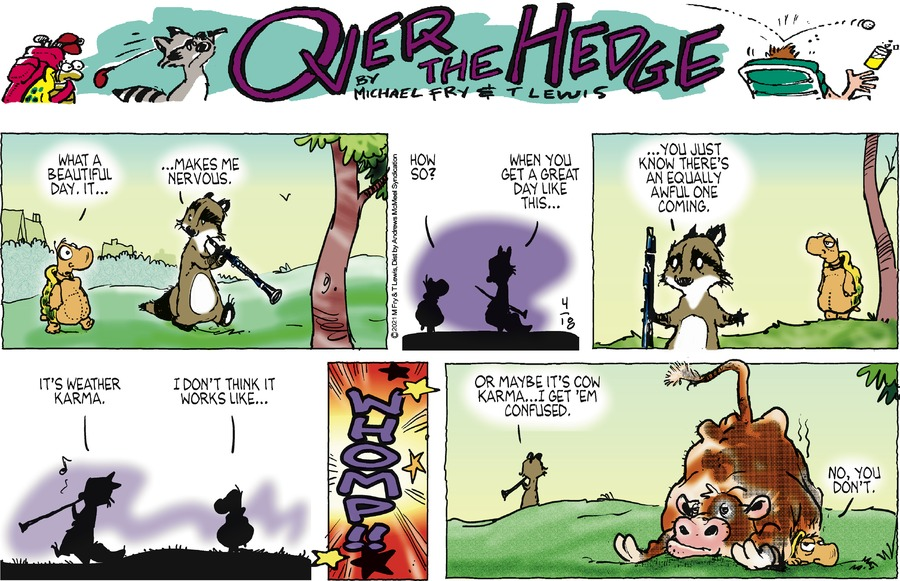 Over the Hedge Comic Strip for April 18, 2021