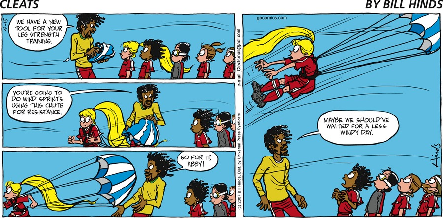 Cleats Comic Strip for April 15, 2007