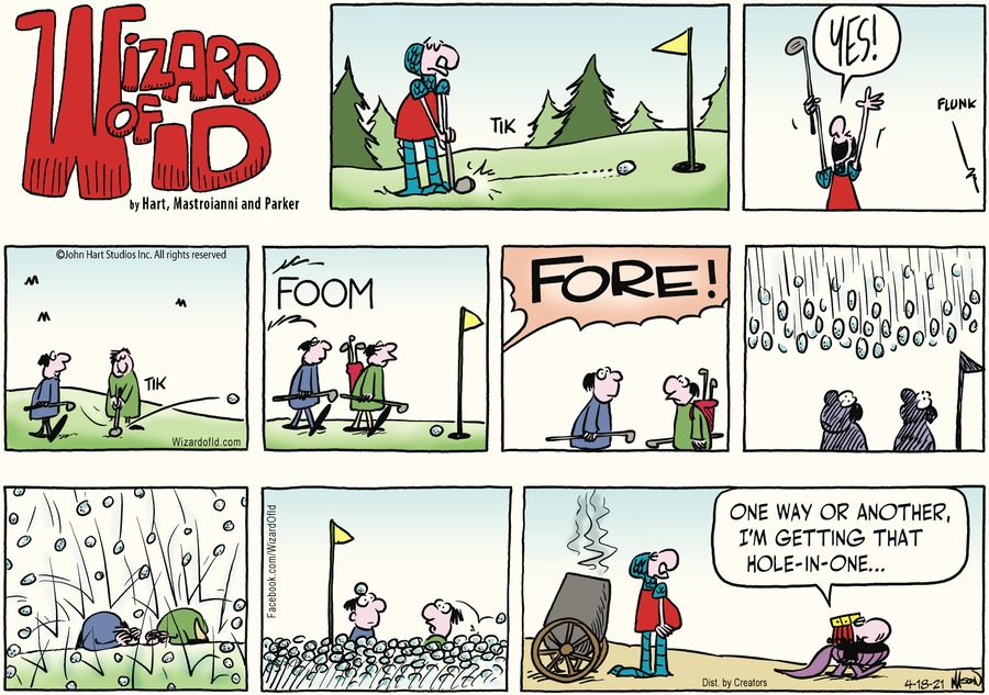 Wizard of Id Comic Strip for April 18, 2021
