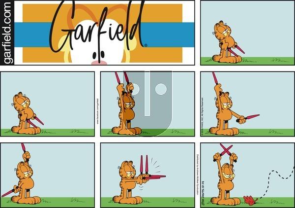 Garfield on Sunday October 14, 2018 Comic Strip