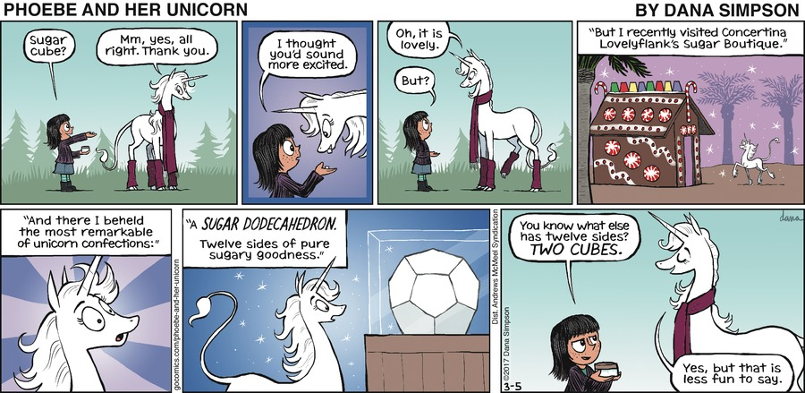 Phoebe and Her Unicorn for Mar 5, 2017 Comic Strip
