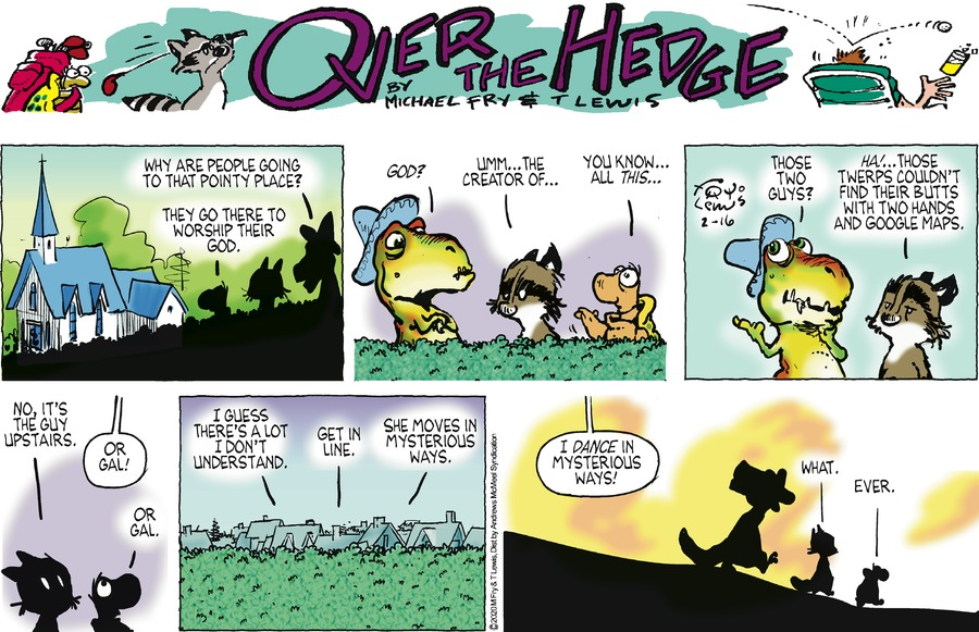 Over the Hedge Comic Strip for February 16, 2020