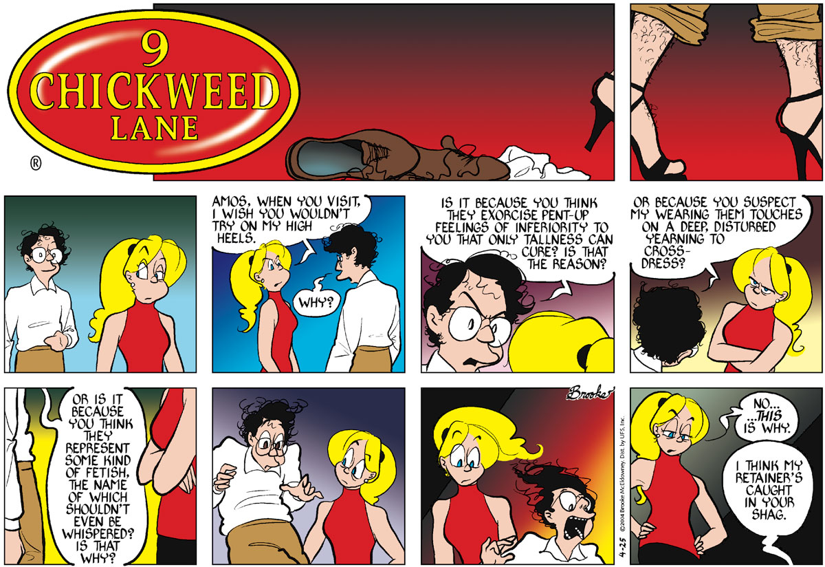 9 Chickweed Lane Comic Strip for April 25, 2004