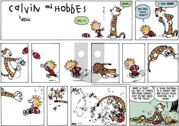 Calvin and Hobbes - Sunday September 27, 2020 Comic Strip