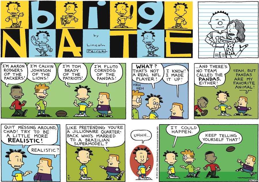 Big Nate for Sep 9, 2012 Comic Strip
