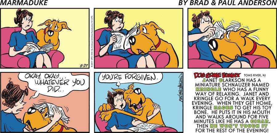 Marmaduke for Aug 27, 2017 Comic Strip