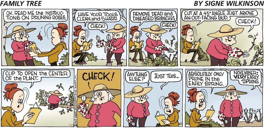 Family Tree Comic Strip for November 01, 2009