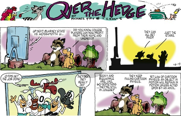 Over the Hedge on Sunday October 17, 2021 Comic Strip
