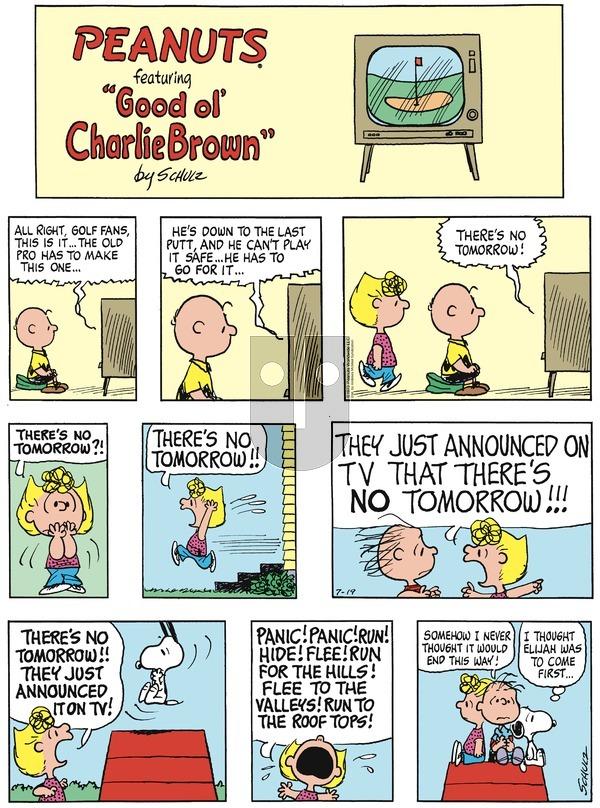 Peanuts - Sunday July 19, 2020 Comic Strip