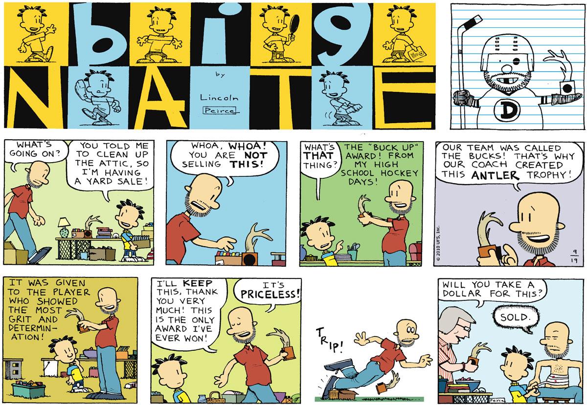 Big Nate Comic Strip for September 19, 2010