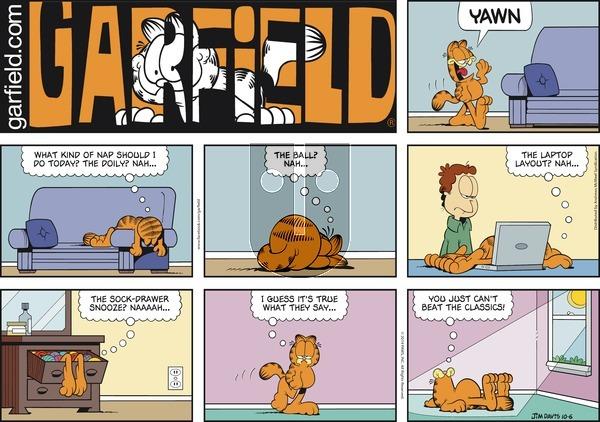 Garfield - Sunday October 6, 2019 Comic Strip