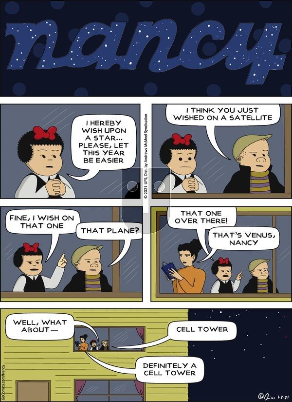 Nancy on Sunday January 3, 2021 Comic Strip