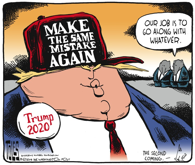 Tom Toles Comic Strip for August 25, 2019