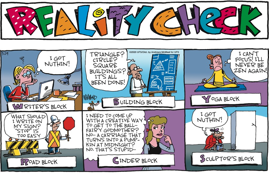 Reality Check Comic Strip for March 29, 2020