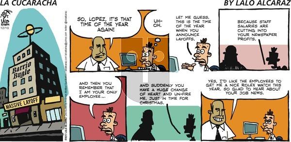 La Cucaracha - Sunday December 10, 2017 Comic Strip