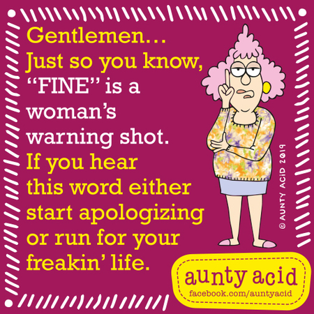 Aunty Acid by Ged Backland for September 07, 2019