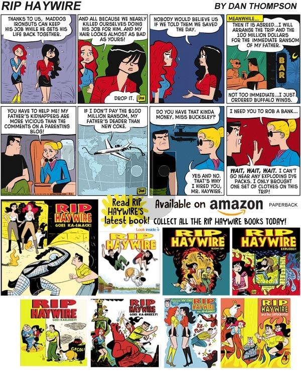 Rip Haywire on Sunday July 28, 2019 Comic Strip