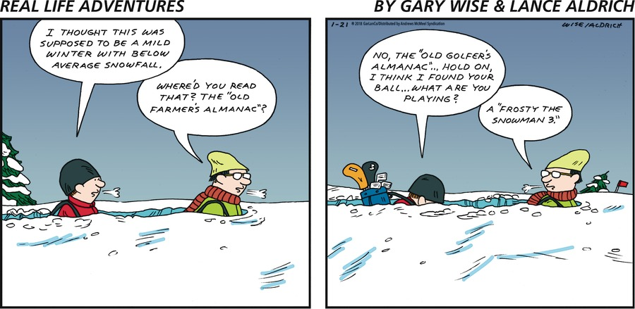 Real Life Adventures for Jan 21, 2018 Comic Strip