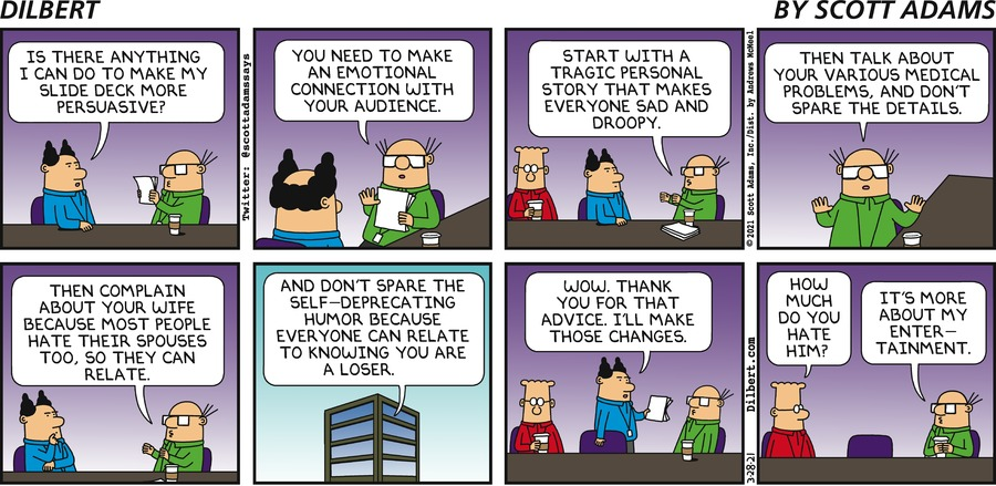Wally's Advice - Dilbert by Scott Adams