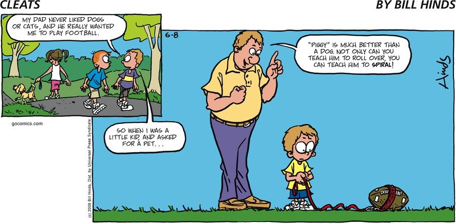 Cleats Comic Strip for June 08, 2008