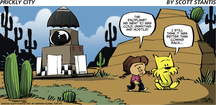 Prickly City Comic Strip for August 23, 2020