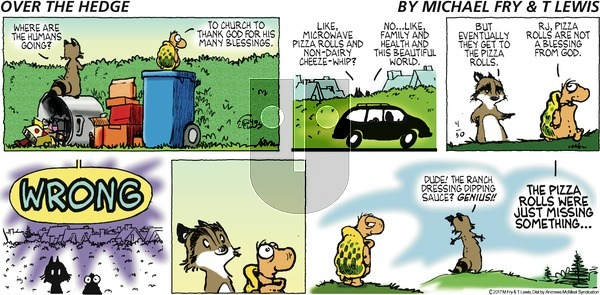Over the Hedge on Sunday April 30, 2017 Comic Strip