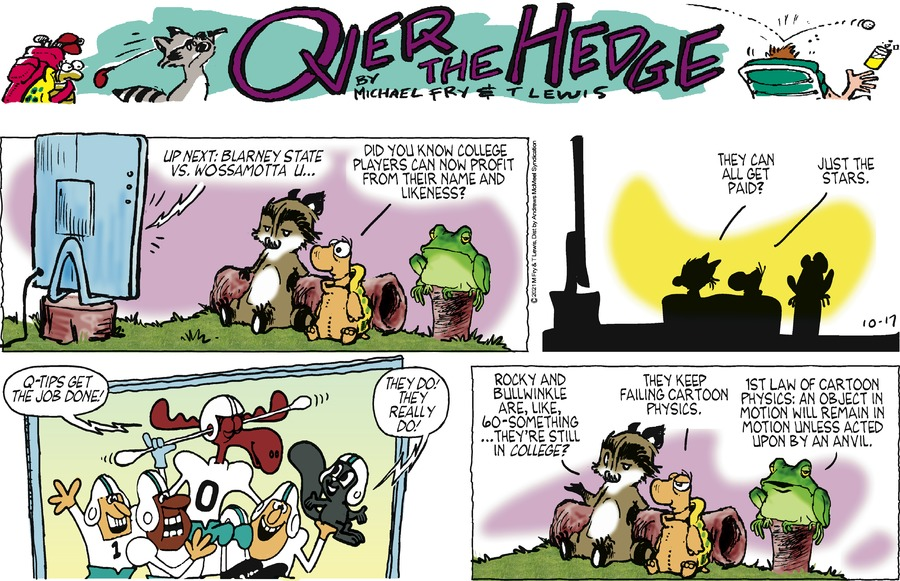 Over the Hedge by T Lewis and Michael Fry on Sun, 17 Oct 2021