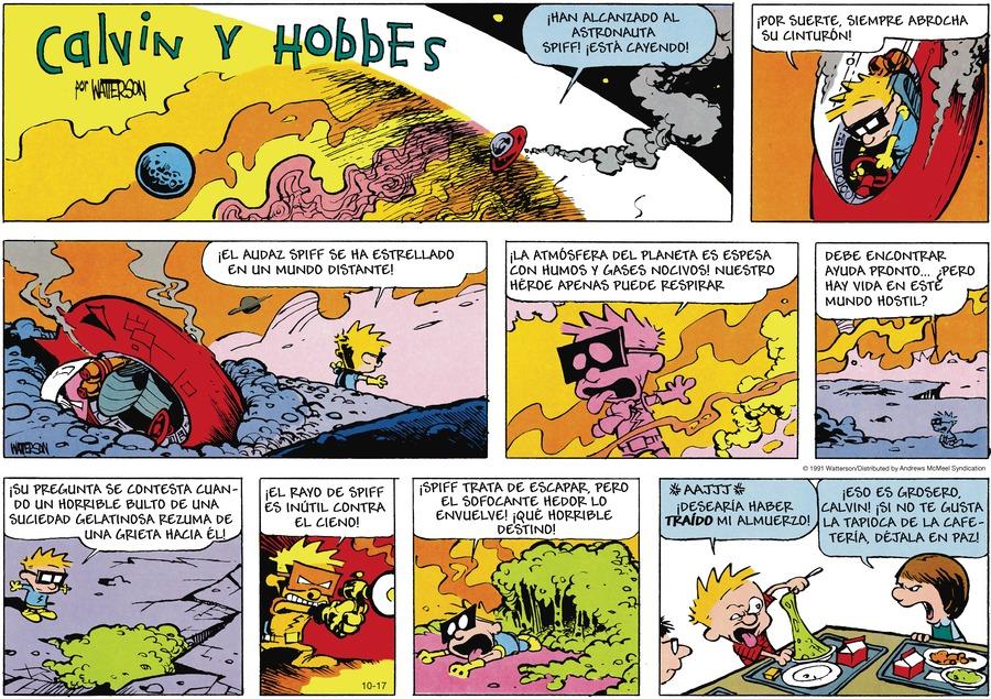 Calvin and Hobbes en Español by Bill Watterson on Sun, 17 Oct 2021