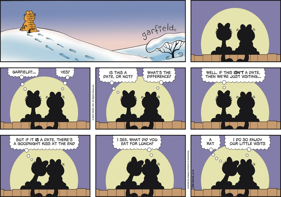 Garfield by Jim Davis on Sun, 14 Feb 2021