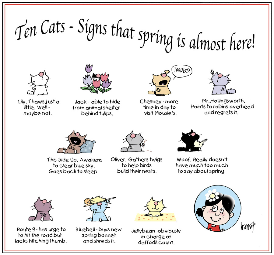 Ten Cats by Graham Harrop for March 10, 2019