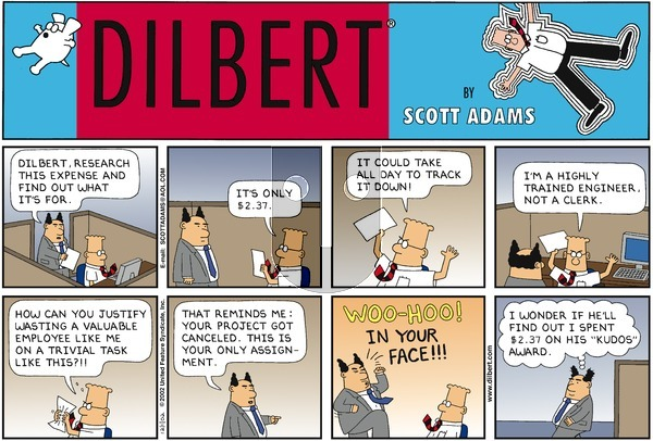 Dilbert - Sunday December 1, 2002 Comic Strip