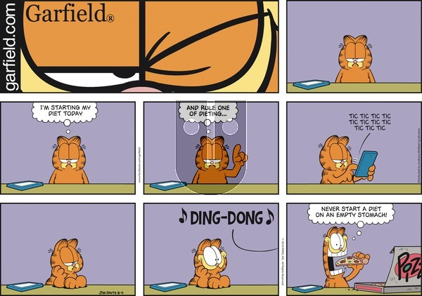 Garfield on Sunday August 4, 2019 Comic Strip
