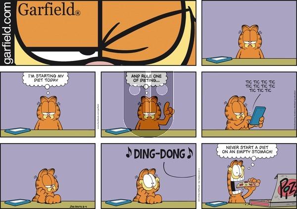 Garfield - Sunday August 4, 2019 Comic Strip