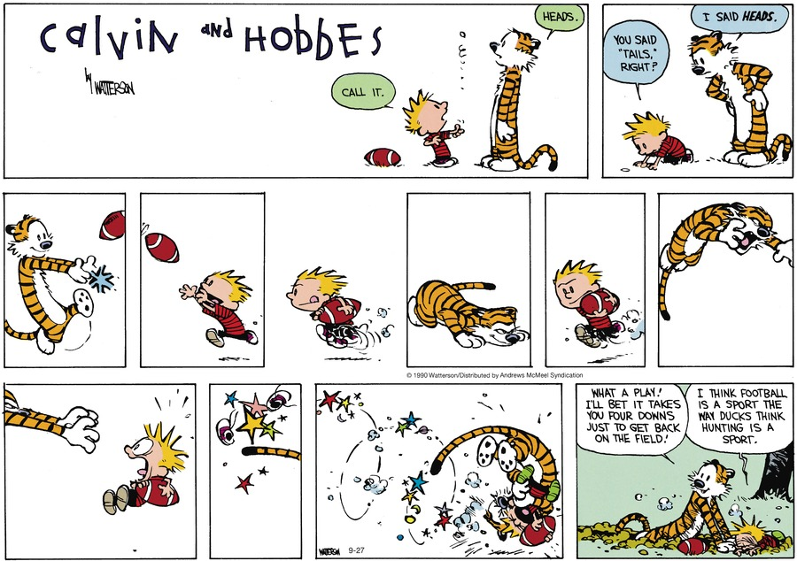 Calvin and Hobbes Comic Strip for September 27, 2020