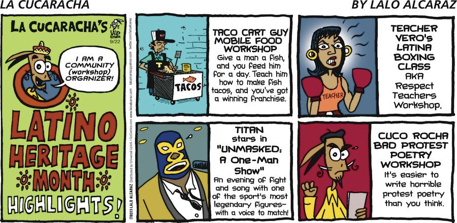 La Cucaracha for Sep 22, 2013 Comic Strip