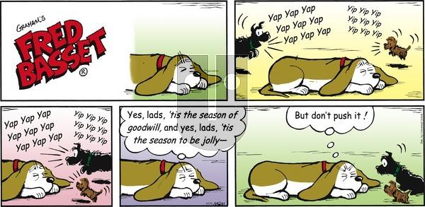 Fred Basset on Sunday December 15, 2013 Comic Strip