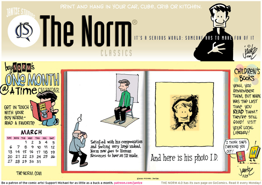 The Norm Classics Comic Strip for February 28, 2016
